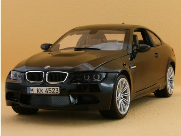 BMW M3 Coupe - black - MotorMax 1:18