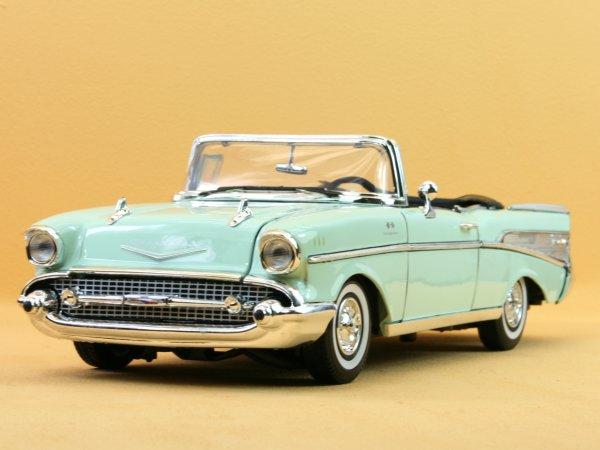 CHEVROLET Bel Air - 1957 - turquoise - MotorMax 1:18
