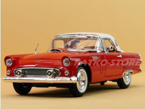 FORD Thunderbird - 1956 - red / white - MotorMax 1:18