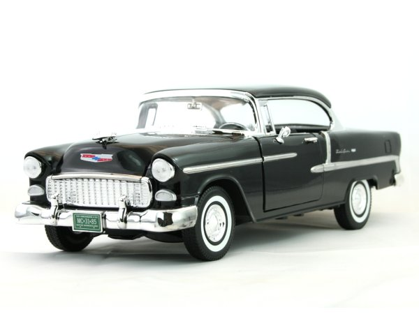 CHEVROLET Bel Air - 1955 - black - MotorMax 1:18