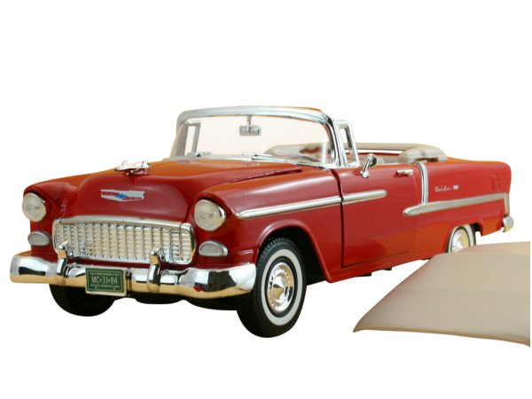 CHEVROLET Bel Air - 1955 - red - MotorMax 1:18