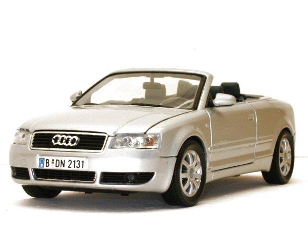 AUDI A4 Cabrio - silver - MotorMax 1:18