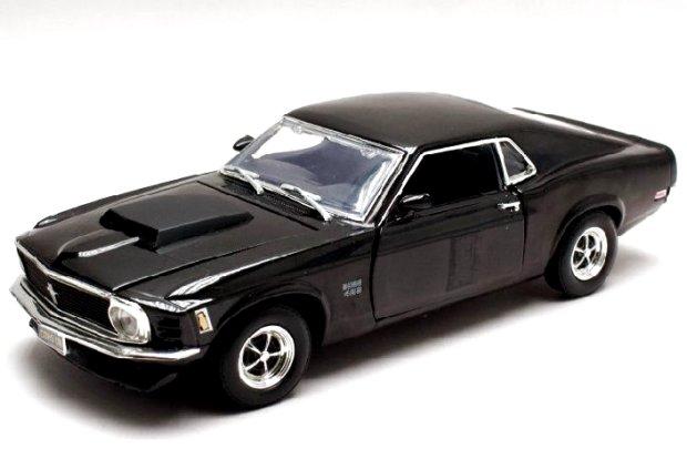 FORD Mustang Boss 429 - 1970 - black - MotorMax 1:18