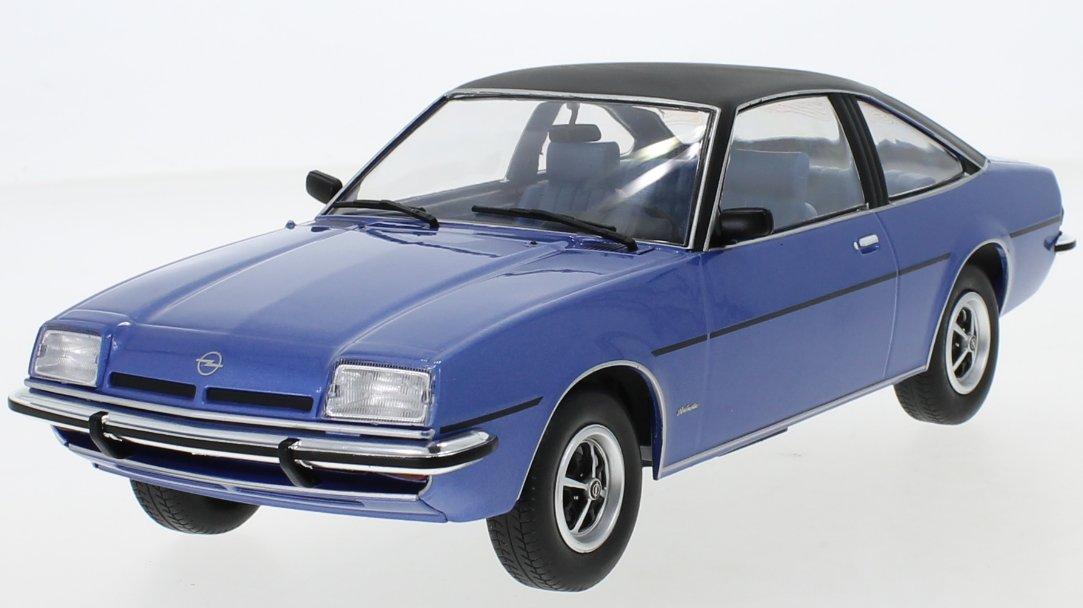 OPEL Manta B Berlinetta - 1975 - blue / black - MCG 1:18