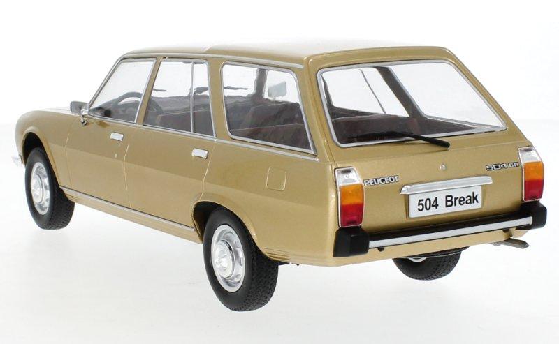 PEUGEOT-504-Break-1976-goldmetallic-MCG-1-18 miniatuur 3