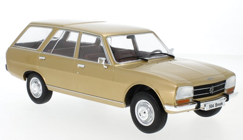 PEUGEOT-504-Break-1976-goldmetallic-MCG-1-18 miniatuur 4