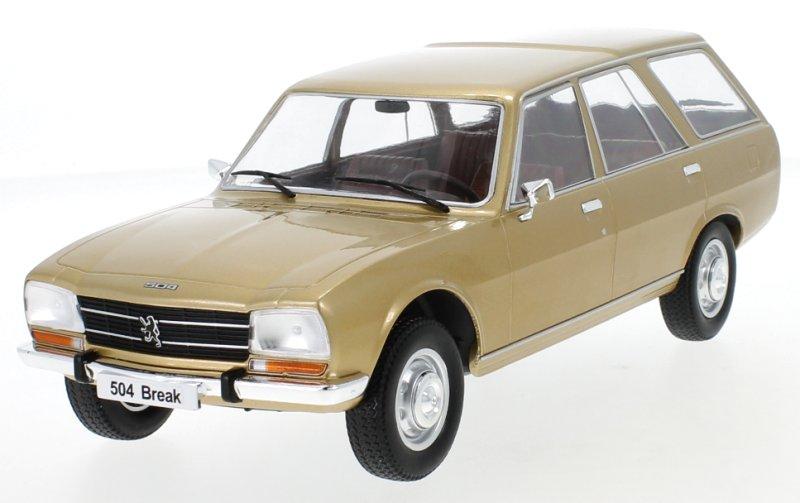 PEUGEOT-504-Break-1976-goldmetallic-MCG-1-18 miniatuur 2