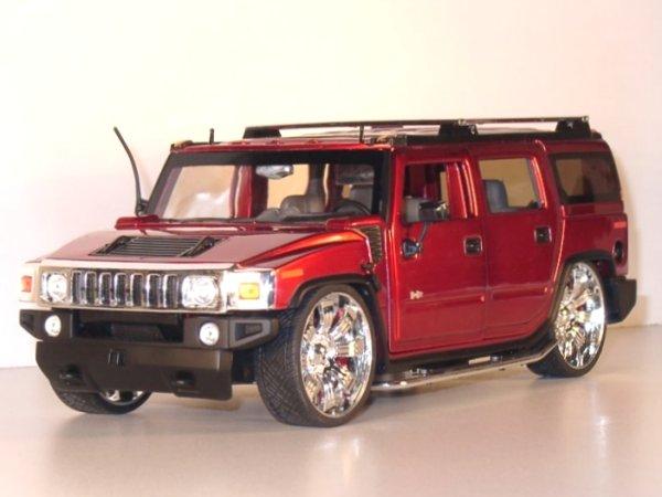 AMC HUMMER H2 SUV - redmetallic - JADA 1:18