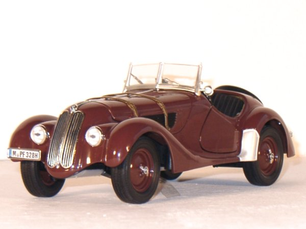 BMW 328 Roadster - 1936 - brown - RICKO 1:18