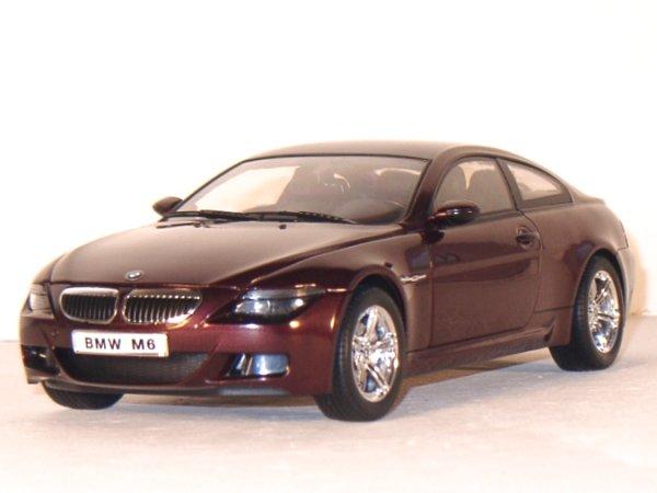 BMW M6 - darkredmetallic - RICKO 1:18