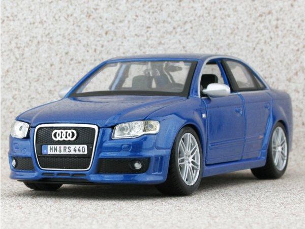 AUDI RS4 - bluemetallic - Bburago 1:24