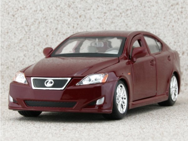 LEXUS IS 350 - darkred - Bburago 1:24