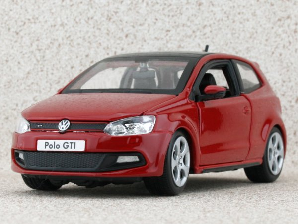 VW Volkswagen Polo GTI - red - Bburago 1:24