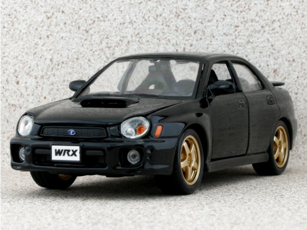 SUBARU Impreza WRX - 2002 - black - Bburago 1:24