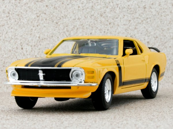 FORD Mustang Boss 302 - 1970 - yellow - Maisto 1:24
