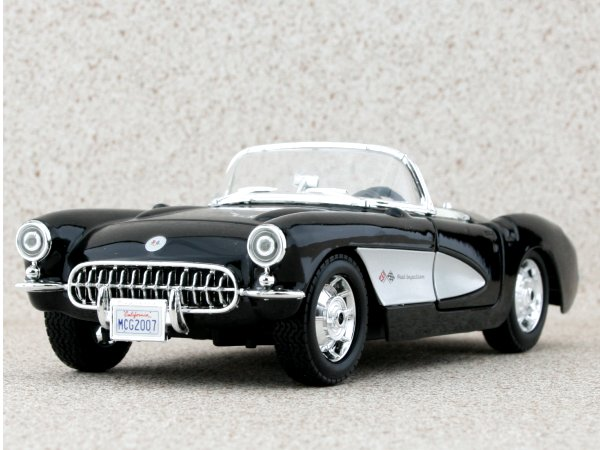 CHEVROLET Corvette - 1957 - black - Maisto 1:24