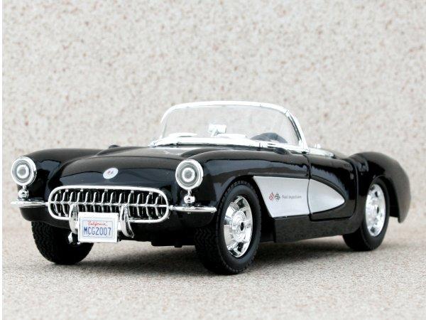 CHEVROLET Corvette - 1957 - black - Maisto 1:24