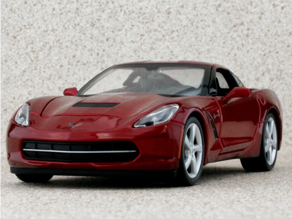 CHEVROLET Corvette Stingray - 2014 - redmetallic - Maisto 1:24