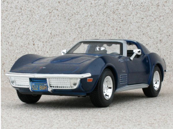 CHEVROLET Corvette - 1970 - bluemetallic - Maisto 1:24