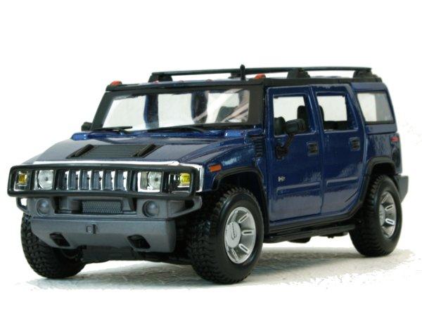 AMC HUMMER H2 SUV - 2003 - bluemetallic - Maisto 1:27