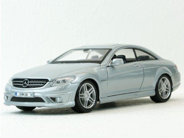 MB Mercedes Benz CL63 AMG - silver - Maisto 1:24
