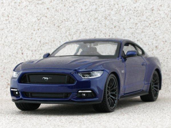 FORD Mustang GT - 2015 - bluemetallic - Maisto 1:24