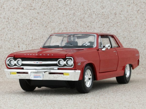 CHEVROLET Malibu SS - 1965 - red - Maisto 1:24