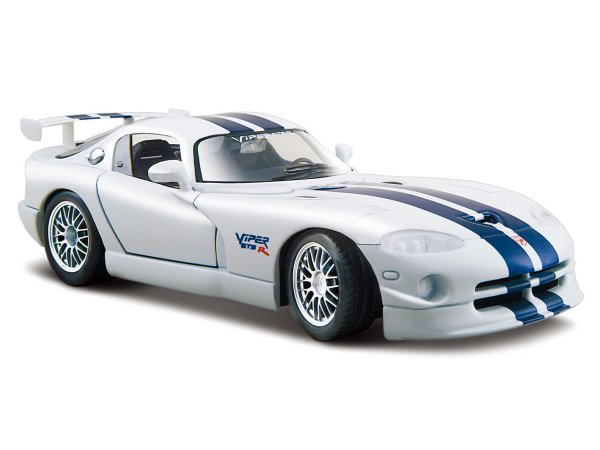 DODGE Viper GT2 - white / blue - Maisto 1:24