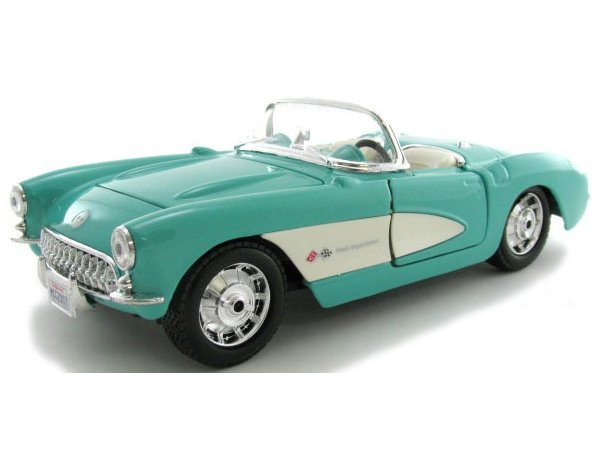 CHEVROLET Corvette - 1957 - turquoise - Maisto 1:24