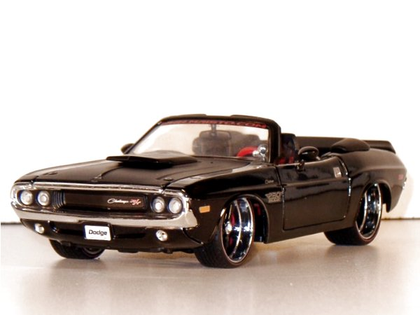 DODGE Challenger R/T - 1970 - blackmetallic - Maisto 1:24