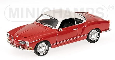 VW Volkswagen Karmann Ghia Coupe - 1970 - red / white - Minichamps 1:24