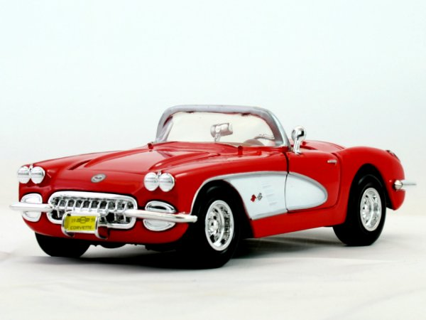 CHEVROLET Corvette - 1959 - red - MotorMax 1:24