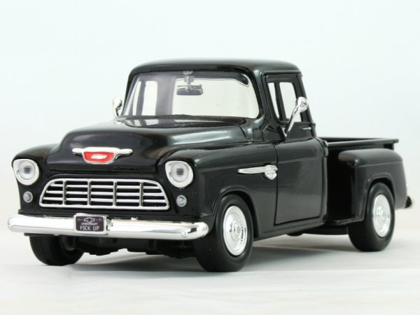 CHEVROLET 5100 Stepside - 1955 - black - MotorMax 1:24