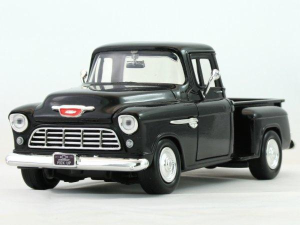CHEVROLET 5100 Stepside - 1955 - black - MotorMax 1:24