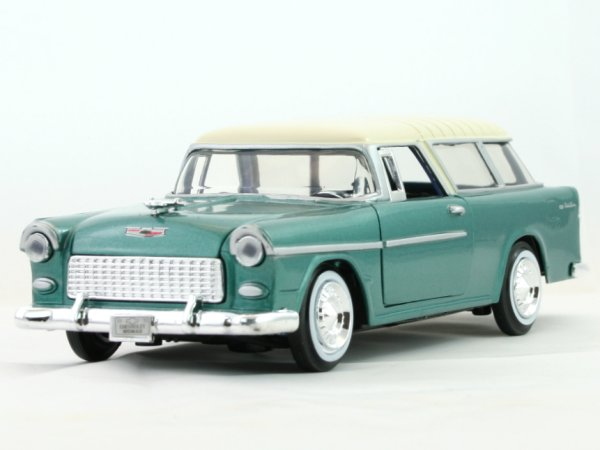 CHEVROLET Bel Air Nomad - 1955 - greenmetallic - MotorMax 1:24