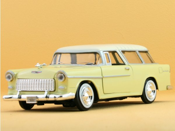 CHEVROLET Bel Air Nomad - 1955 - lightyellow - MotorMax 1:24