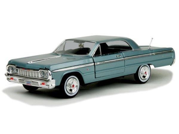 CHEVROLET Impala - 1964 - bluemetallic - MotorMax 1:24