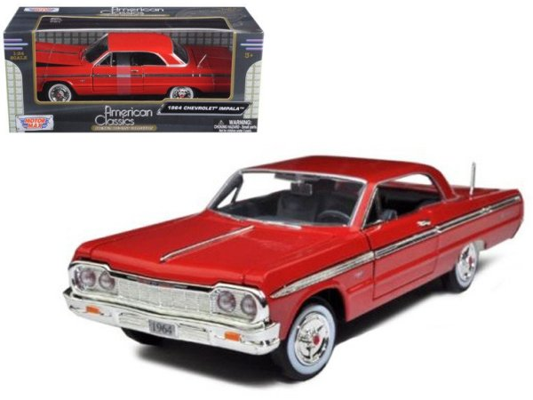 CHEVROLET Impala - 1964 - red - MotorMax 1:24