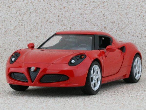 ALFA ROMEO 4C - red - MotorMax 1:24