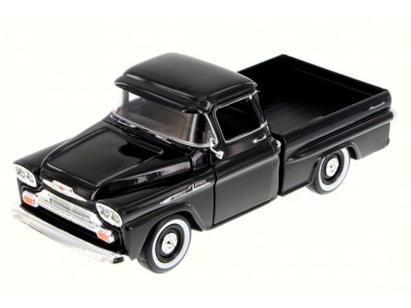 CHEVROLET Apache Fleetside Pick up - 1958 - black - MotorMax 1:24