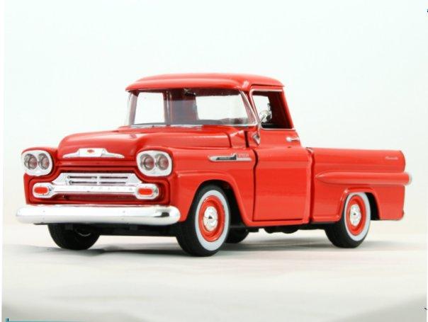CHEVROLET Apache Fleetside Pick up - 1958 - redorange - MotorMax 1:24