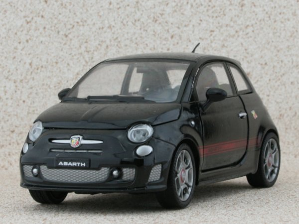 FIAT Abarth 500 - black - MotorMax 1:24