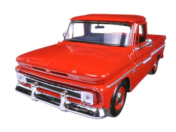 CHEVROLET C10 Fleetside Pick up - 1966 - red - MotorMax 1:24