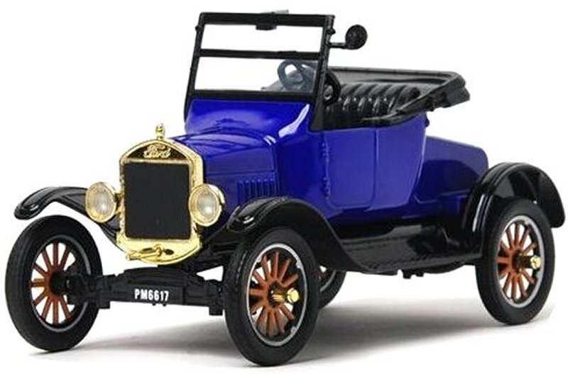 FORD Model T - Runabout - 1925 - blue - MotorMax 1:24