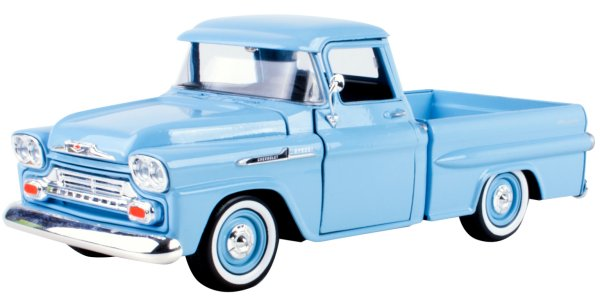 CHEVROLET Apache Fleetside Pick up - 1958 - lightblue - MotorMax 1:24