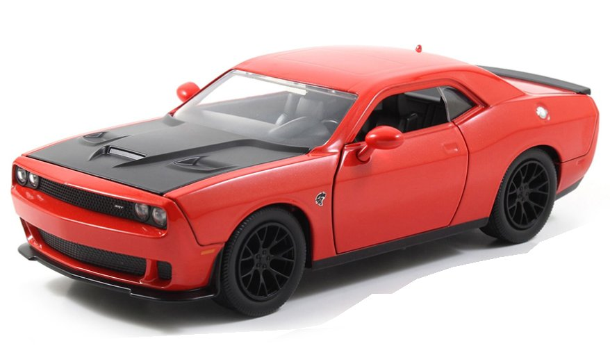 DODGE Challenger SRT Hellcat - 2015 - red / black - JADA 1:24