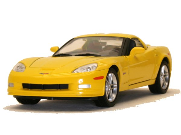 CHEVROLET Corvette Z06 - 2007 - yellow - YATMING 1:24