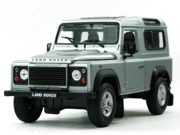 LAND ROVER Defender - silver - WELLY 1:24