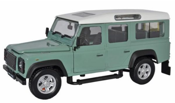 LAND ROVER Defender - green / white - Oxford 1:24