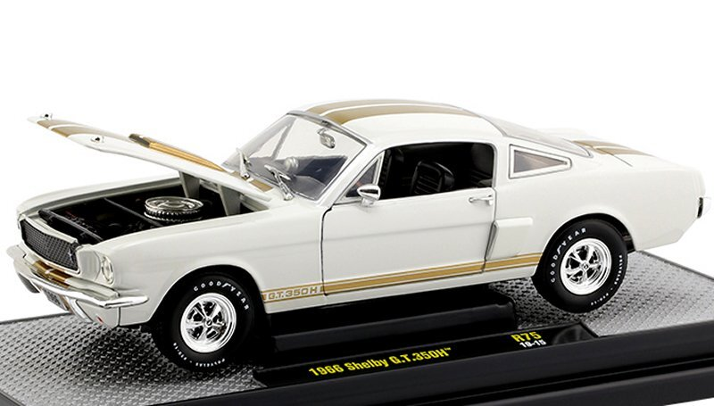 FORD Mustang SHELBY G.T. 350 H - 1966 - white / gold - M2 Machines 1:24